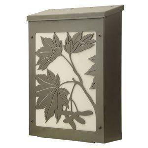 Blink Shadowbox Maple Leaf Vertical Wall Mount Mailbox in Dark Bronze by Blink Manufacturing. $145.00