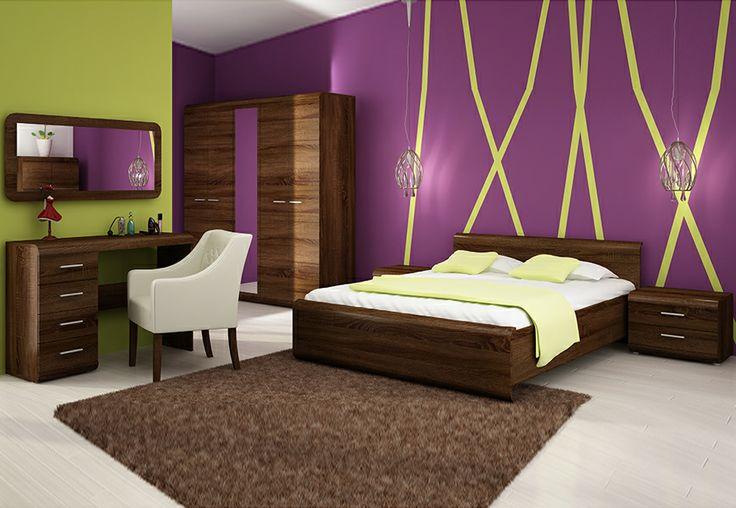 Nasz bestseller w nowym wybarwieniu! Sypialnia Link 2 Dąb Czekoladowy  http://sagameble-sklep.pl/zestawy-do-sypialni/4767-sypialnia-link-2-dab-czekoladowy.html