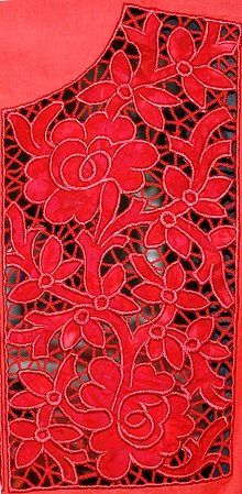 Cutwork Applique Lace Yoke by Advanced Embroidery Designs