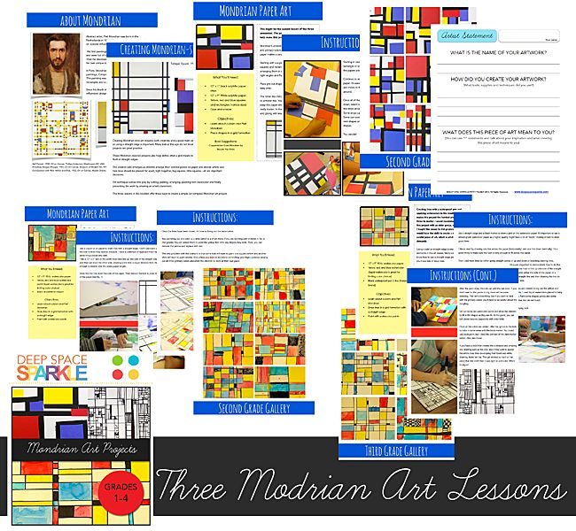 Mondrian Art Projects: combining math and art