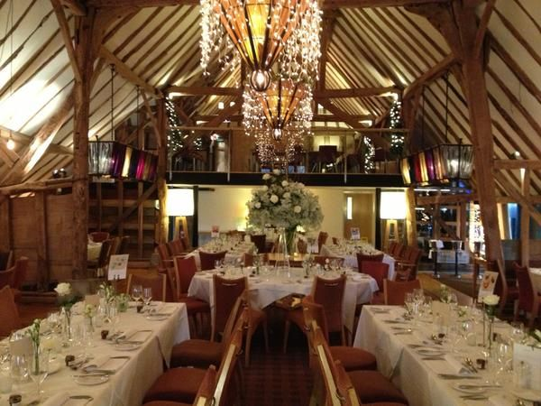 The Barn Brasserie 16th Century Barn Wedding Venue in Essex.