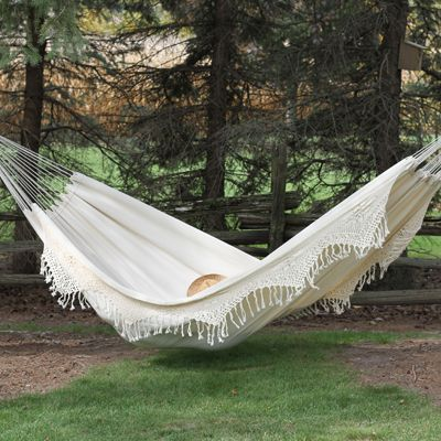 Hang Out Like Royalty In The Vivere Brazilian Double Deluxe Hammock!