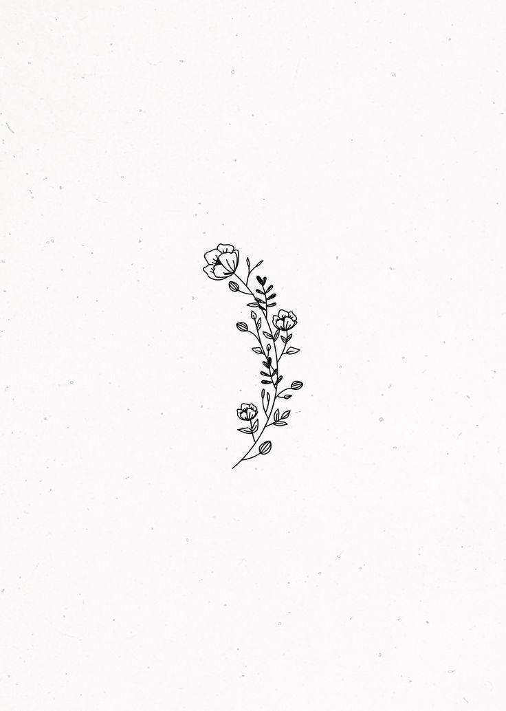 Floral illustration – – #Arten #Bezeichnung #floral #Frau #Herz #Ideen