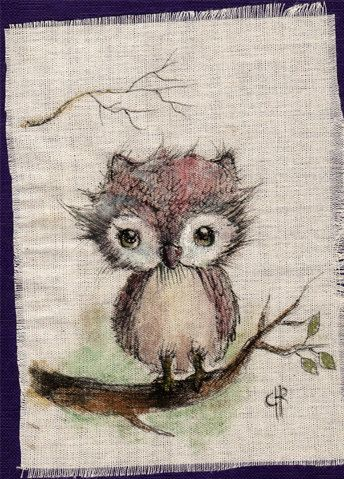 Original+Pen+Ink+Fabric+acrylic+colorspaintingby+by+ppinkydollsart,+$9.50