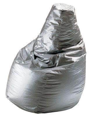 Pouf Sacco similicuir Volo Aluminium - Zanotta