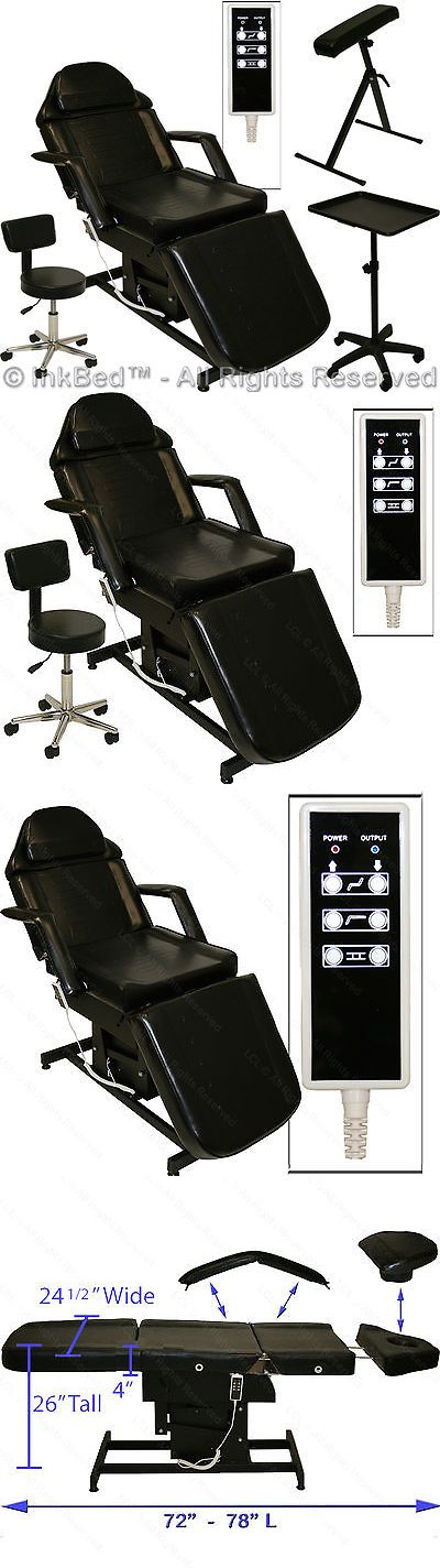 Other Tattoos and Body Art: Inkbed Tattoo Electric Massage Table Chair Arm Bar Ink Bed Tray Salon Equipment BUY IT NOW ONLY: $678.88