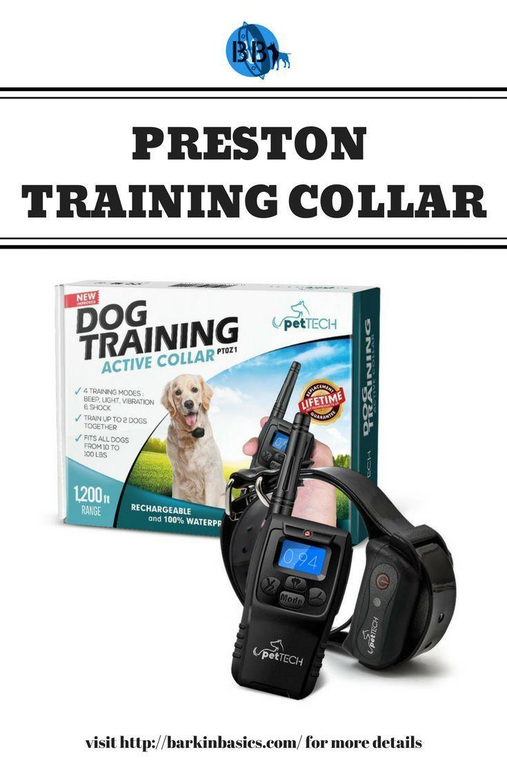 Peston Remote Dog Training Collar By Barkin Basics Rechargeable