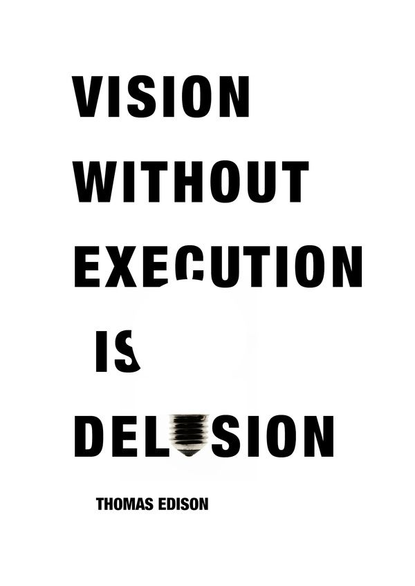 thomas edison, quotes, sayings, vision without execution