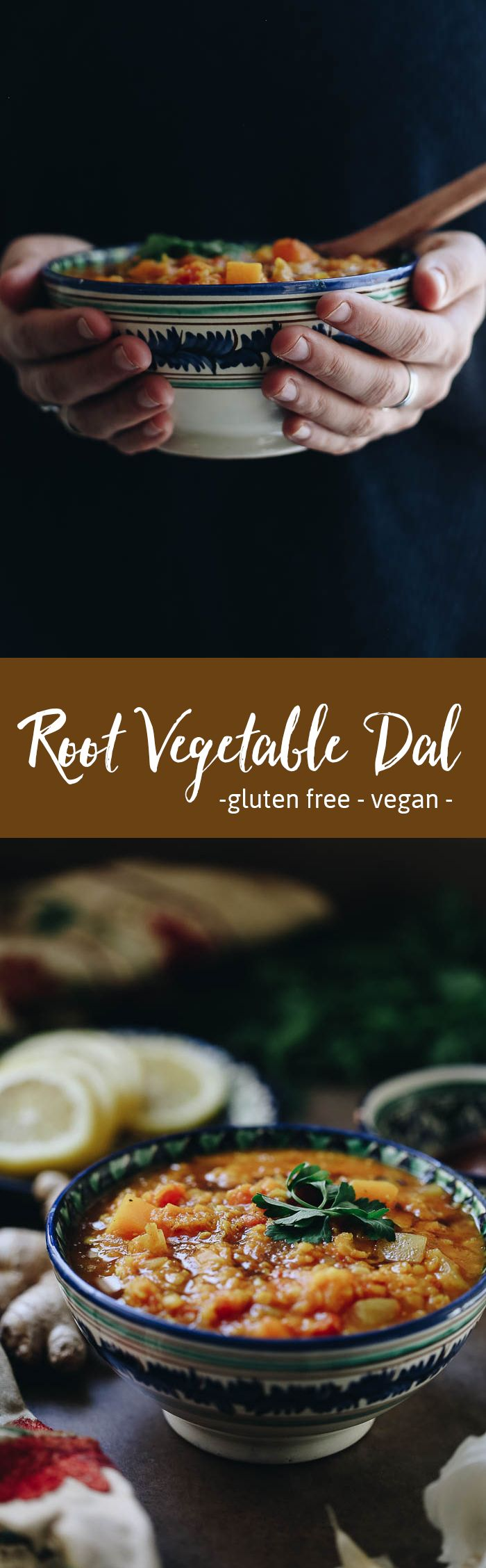 This easy Weeknight Root Vegetable Dal is the perfect answer to dinner this week. It's easily customizable based on what you have on hand and makes a hearty, vegetarian soup recipe full of nourishing ingredients!