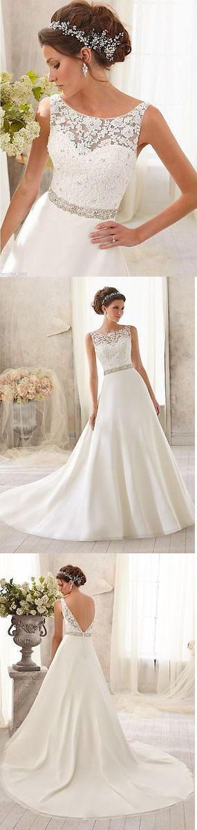 Wedding Dresses: New White/Ivory Lace Wedding Dress Bridal Gown Custom Size 6 8 10 12 14 16 18+++ BUY IT NOW ONLY: $120.0
