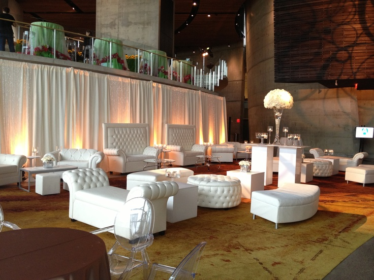 Lounge Decor Images Part - 39: Arena Stage With Bar Area Pipe U0026 Draped. {Crystal Button Collection From ...