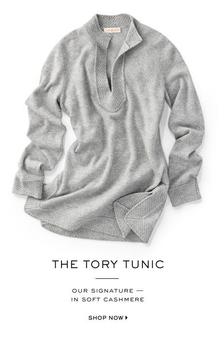 ok i think this is my first tory pin ever... love...Cashmere Tory Tunic
