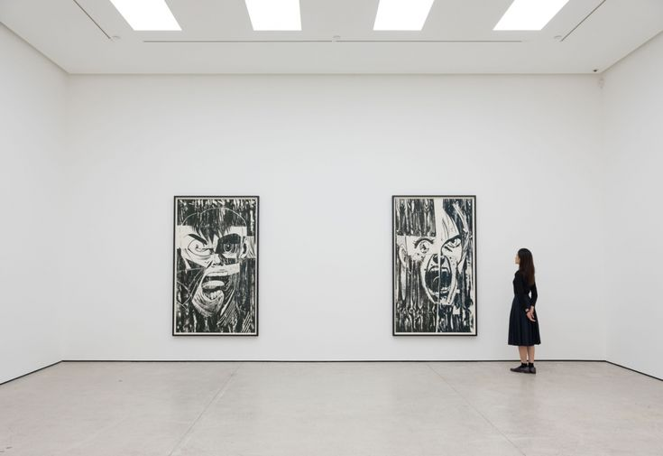 Christian Marclay's giant woodcut prints of screaming faces inspired by Manga | Creative Boom