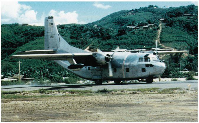 AIr America C-123 at Long Tien Laos http://usafflightcheck.com  https://www.facebook.com/USAF.Flight.Check