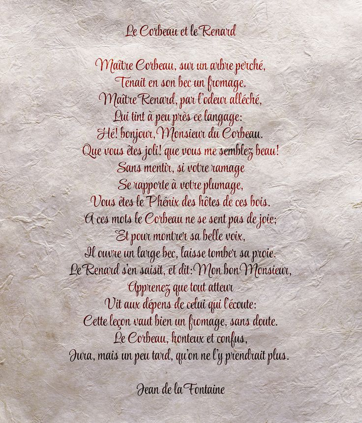 Le Corbeau et le Renard -JeandelaFontaine