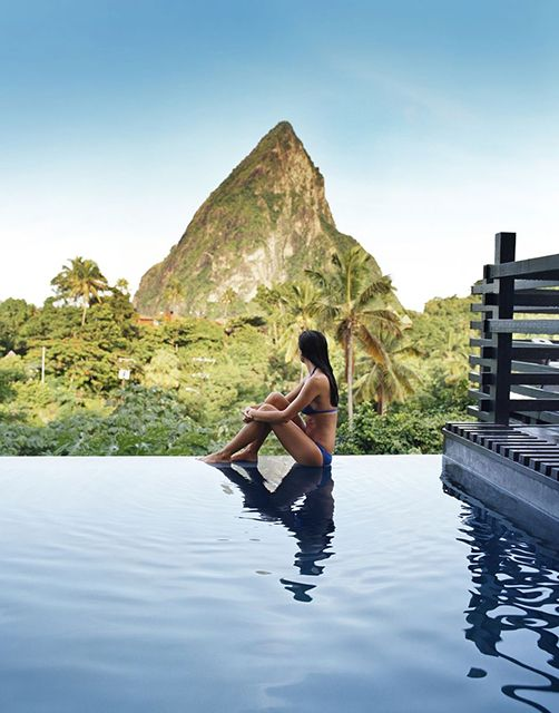 Boucon by Hotel Chocolat, St Lucia //. We have not been here exactly but LOVE St. Lucia and now this would be ideal anniversary trip spot!