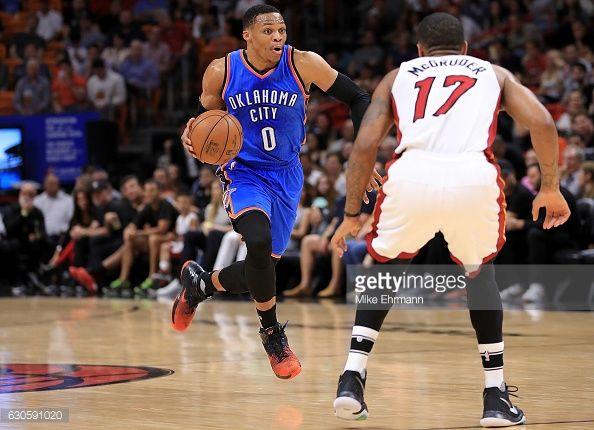 News Photo : Russell Westbrook of the Oklahoma City Thunder...