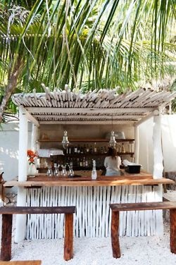 A Beach Cottage - Coastal & Nautical LIfe!: Archive: Tiki Huts, Tikibar, Beaches Shack, Tulum Mexico, Places, Beaches Bar, Outdoor Bar, Backyard Bar, Tiki Bar