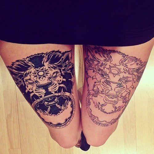 #lion #thigh #tattoo #Doorknocker