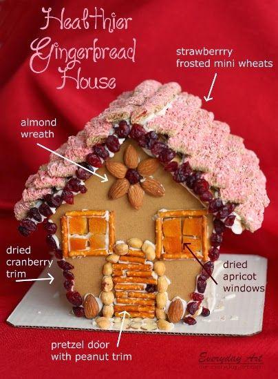 Everyday Art: Gingerbread House Idea: Healthy Gingerbread House!