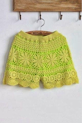 Pretta Crochet: Shorts de crochet