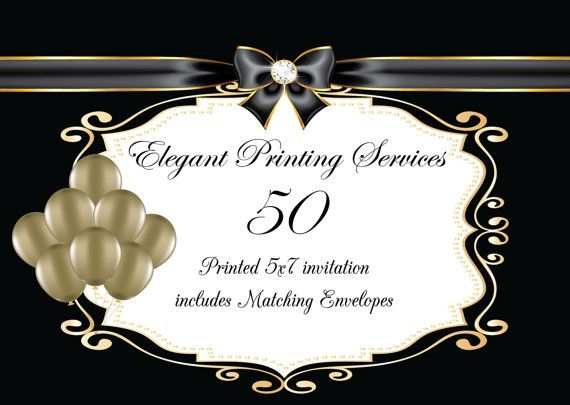 Printing Services  50 Pearl Descent Printed by FabPartyPrints