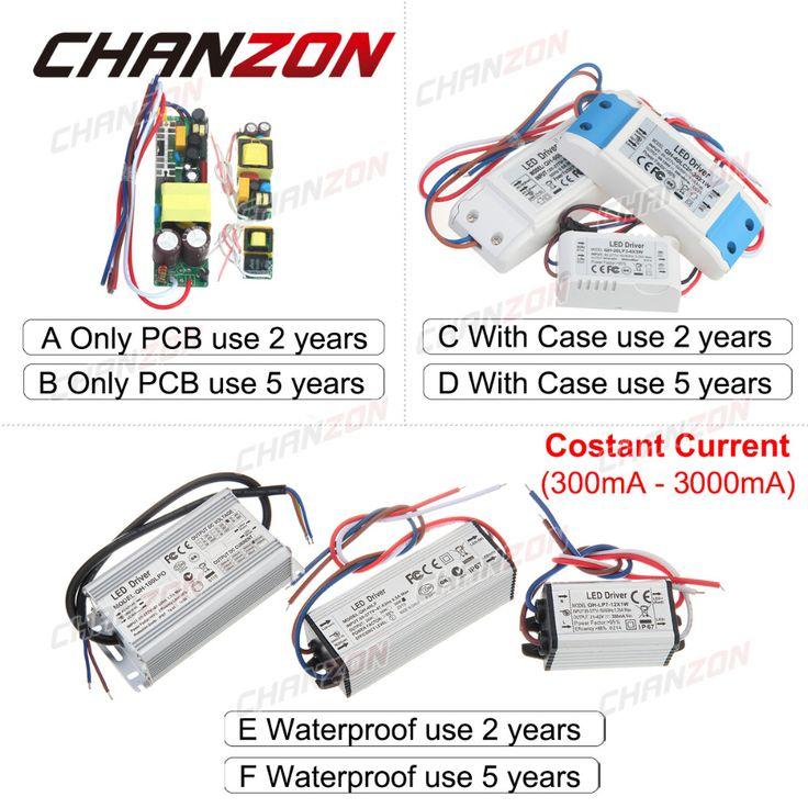 LED Driver Lampu Cahaya Power Supply 300mA 600mA 1 W 3 W 5 W 9 W 10 W 20 W 30 W 36 W 50 W 100 W 1 3 10 20 50 100 W Watt Pencahayaan Transformator