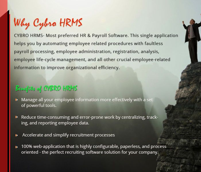 Why CYBRO HRMS a right choice for you?