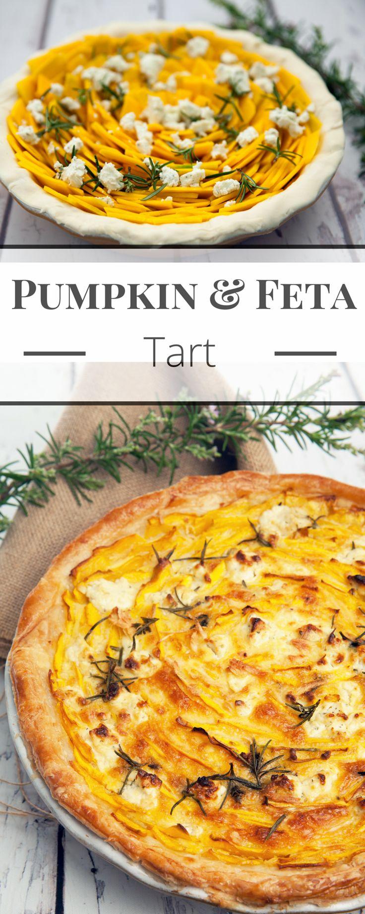 Pumpkin & Feta Tart is a delicious vegetarian pie which would make a fabulous centrepiece.