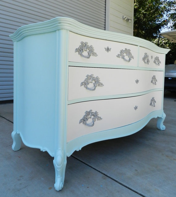 gorgeous hand painted french provincial style dresser