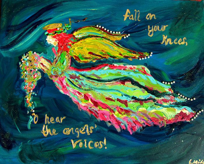 Colorful angel images christmas with the