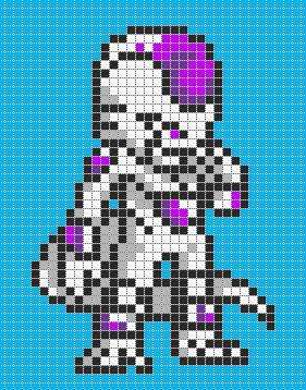 Frieza - Dragon Ball perler bead pattern