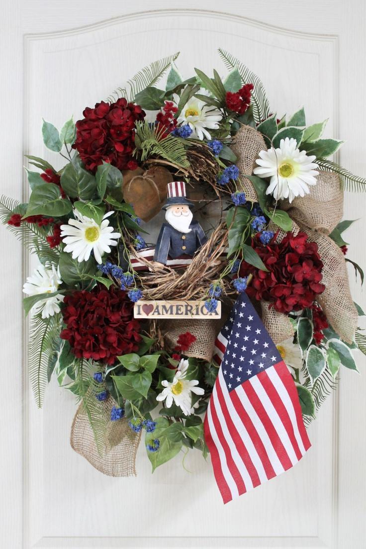 Patriotic Front Door Wreath | Wreaths/Door Decorations ...