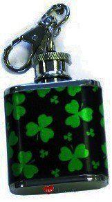 1oz Irish Shamrock Clover Hip Flask Keyring  £5.99  http://iluvscotland.co.uk/occasions/saint-patricks-day
