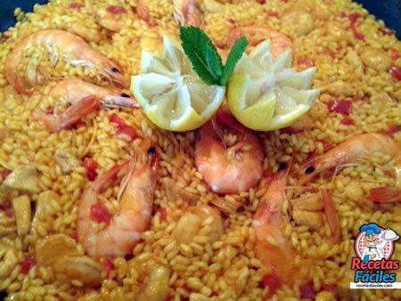 Recetas De Paella De Pollo Y Marisco