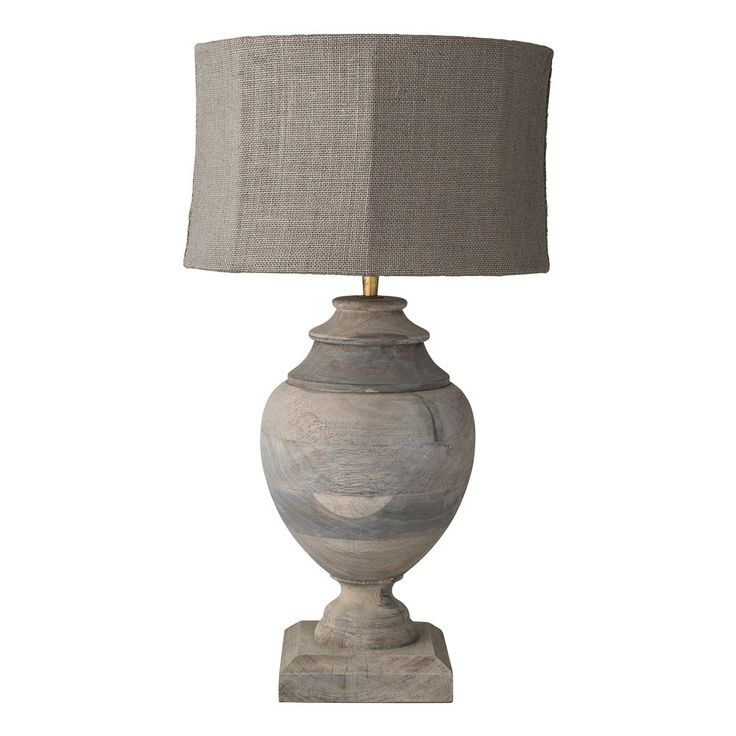 Lene+Bjerre+Kyle+Table+Lamp+With+Shade+-+Traditional+Mango+wood+table+lamp+with+fabric+lampshade. The+Kyle+lamp+from+Lene+Bjerre+has+an+elegant+chic+ambiance. Place+this+lamp+on+a+console+table+in+the+entrance+hallway,+or+lounge+area+to+illuminate+your+space+and+set+the+design+tone+for+your+style+conscious+home. The+natural+tone+of+mango+wood+is+further+complemented+by+a+matching+linen+lampshade. Handcrafted+by+skilled+artisans,+each+lamp+is+distinctively+unique+–+making+this+a+cha...
