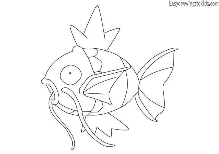 Magikarp Pokemon Drawing