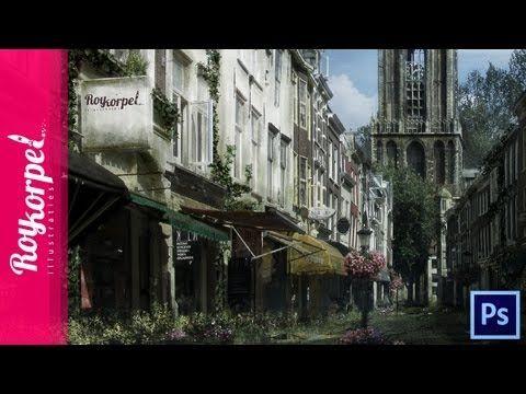 Abandoned Dutch City (Utrecht) | Photoshop CS6 Time Lapse video - 1080 H...
