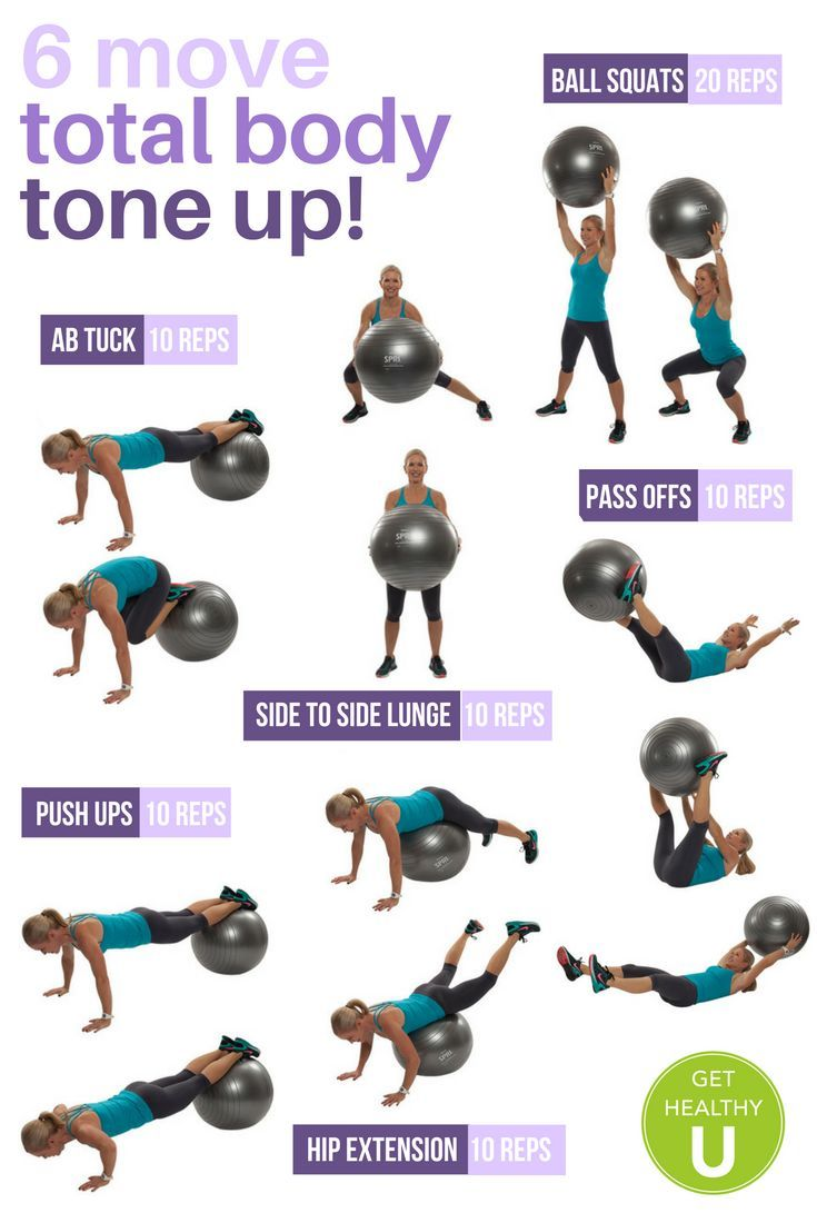 You've got to try this 6 move total body tone up workout ...