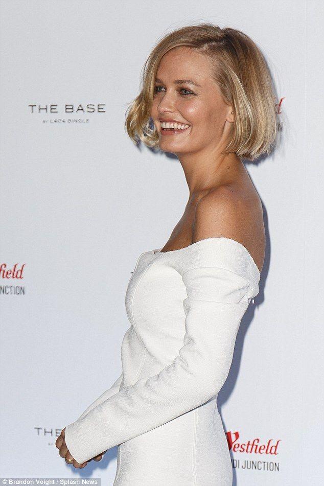 Lara Bingle in Christopher Esber dress - Westfield Style Ambassador - In Sydney.  (15 October 2015)