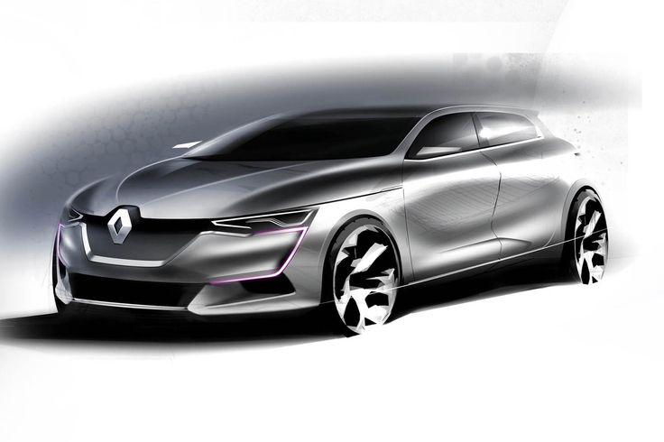 Renault Megane Design Sketch by Franck Le Gall