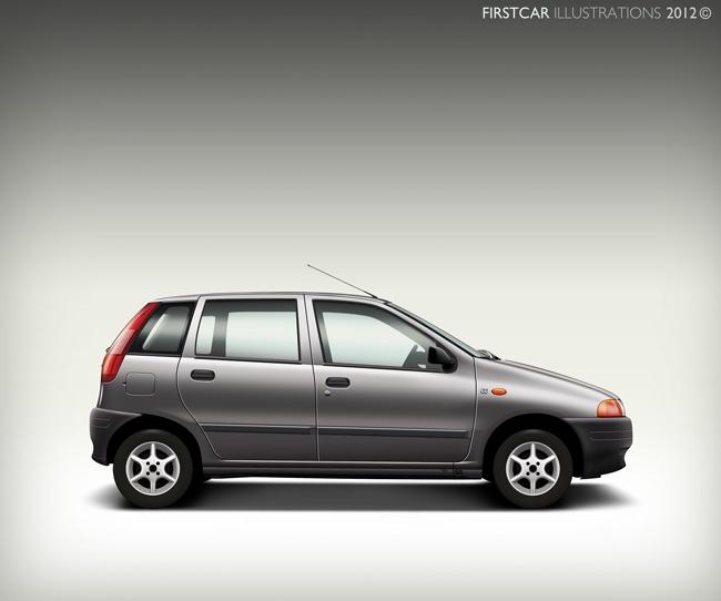 1995 - FIAT PUNTO - firstcar illustrations