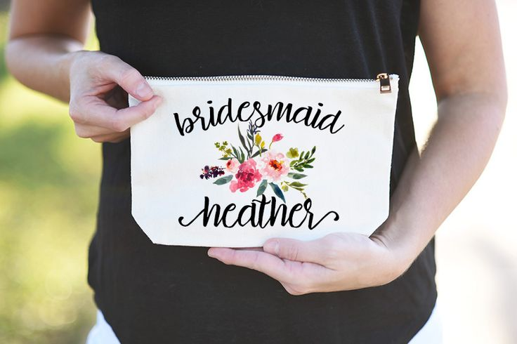 Bridesmaid Cosmetic Bags See more here: https://www.etsy.com/listing/479043305/wedding-party-cosmetic-bag-bridesmaid?ref=shop_home_active_5