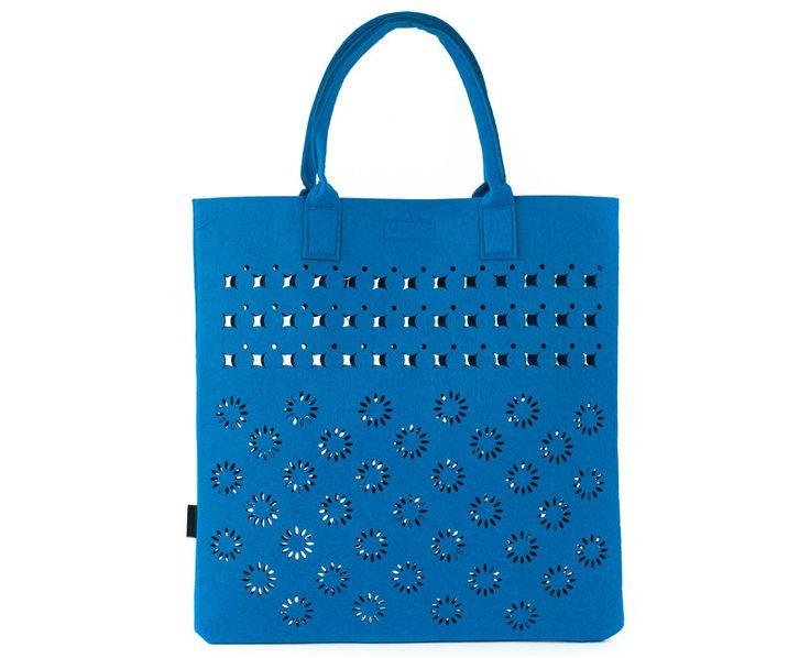 Art of Polo Dámská filcová kabelka Shopping Bag - royal blue tr15113.4
