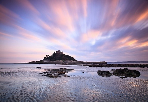 Sunset, St Michael's Mount, #Cornwall #sky