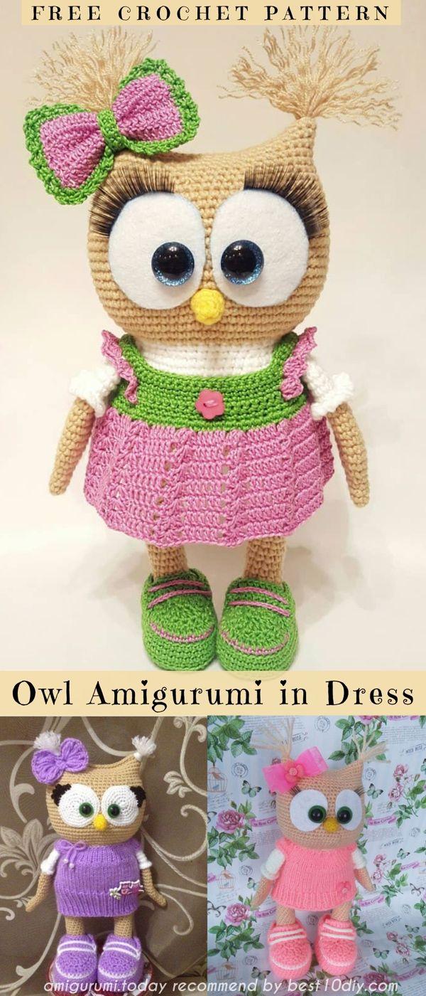 Free crochet owl amigurumi pattern - Amigurumi Today | 1400x600