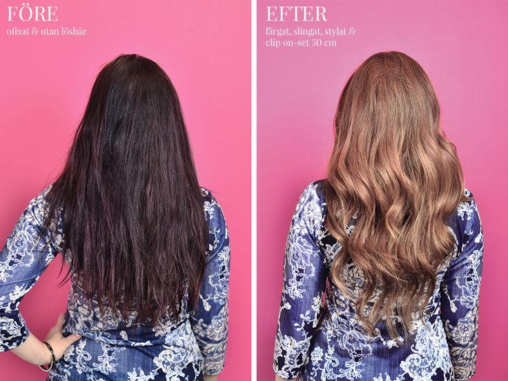 Poze Hair Hårförlängning - Before & After