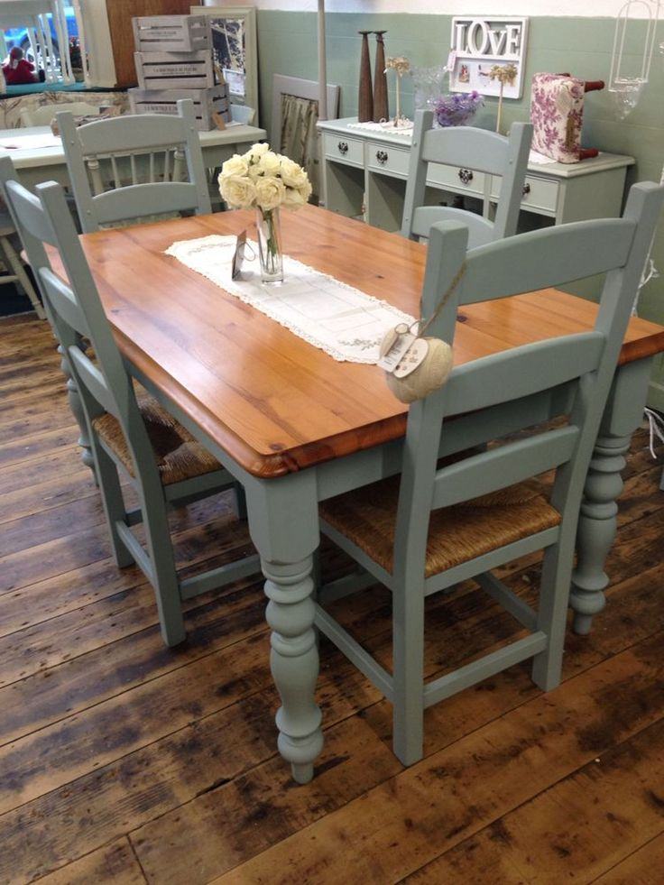 Paint Kitchen Table Chairs This Color