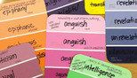Vocabulary Paint Chips -- Build vocabulary by examining related words