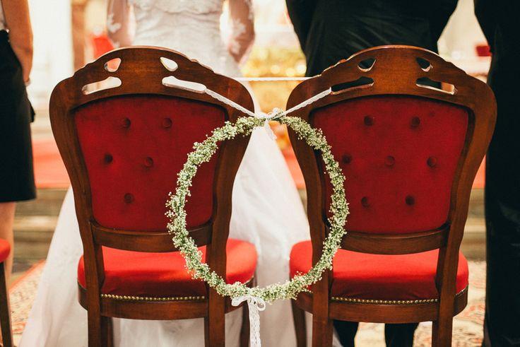 Church Chairs (baby's breath); poročni stoli (šlajer);